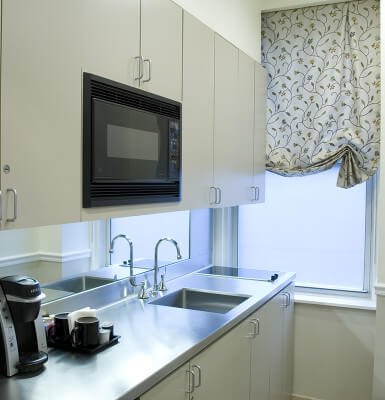 Interior Suite #1014 offers a full kitchen for your convenience.