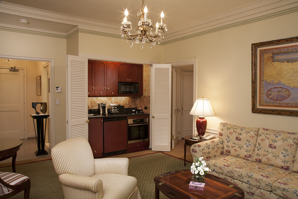 interior suite 815 comes complete with mini fridge microwave and