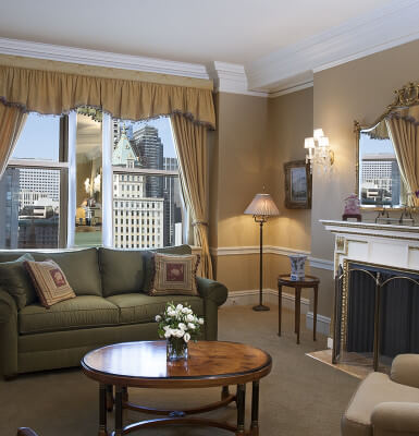 City View Suite #2107 combines spacious living with 21st-floor views in this luxury suite.
