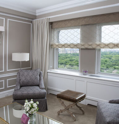 Tastefully decorated City View Suite #2309 features commanding views of the city and Central Park.