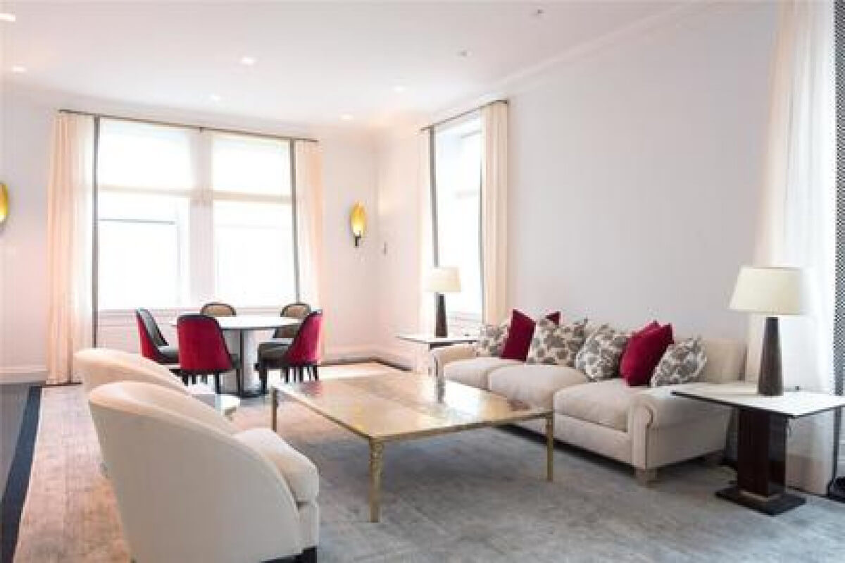 living room in apartment 11