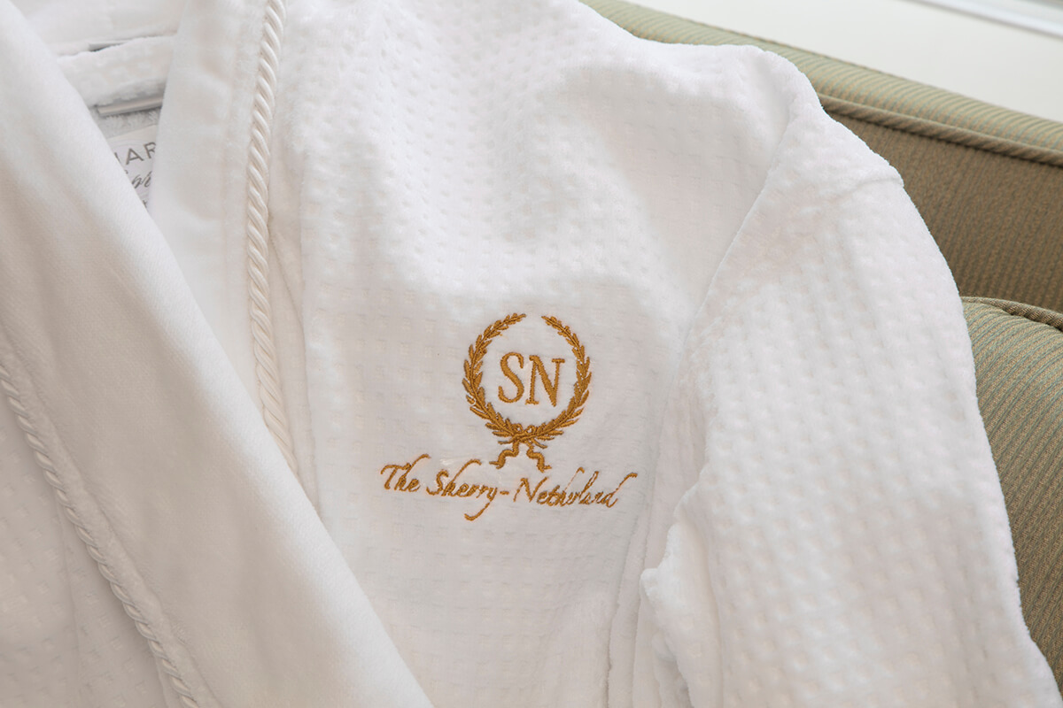 The Sherry Netherland bathrobe
